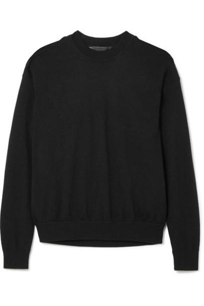 Alexander Wang sweater layered cotton black wool