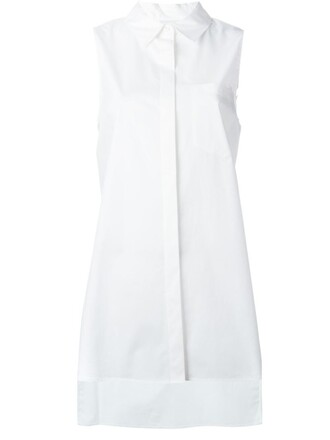 shirt sleeveless shirt cross sleeveless back white top