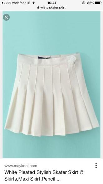 skirt white skirt pleated skirt