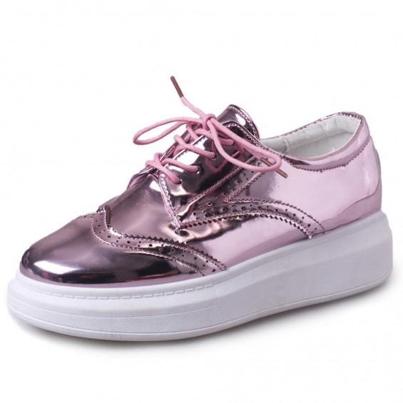 BOOGZEL | Hologram Platform Oxford Shoes