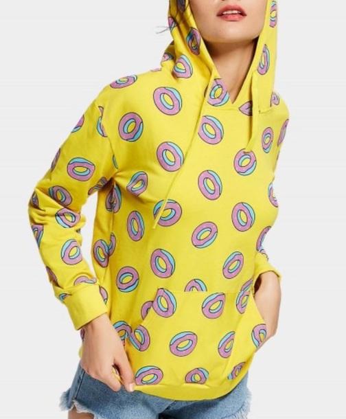 sweater girly sweatshirt hoodie cute donut odd future