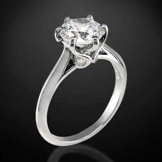 jewels solitaire ring engagement ring 18k white gold plated sterling silver round cut diamond solitaire engagement ring solitaire engagement ring evolees.com