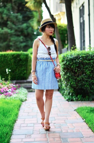 daily disguise bag hat sunglasses tank top skirt shoes belt jewels