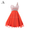 Aliexpress.com : buy real photos 2016 new design one shoulder chiffon beading red homecoming dresses a line sweetheart 8th grade prom dresses w131 from reliable dresses dolls suppliers on lovoney house