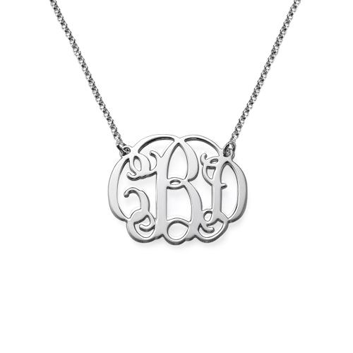 Celebrity Monogram Necklace in Sterling Silver | MyNameNecklace