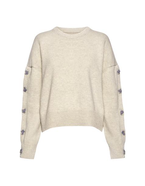 Nili Lotan sweater slit light grey
