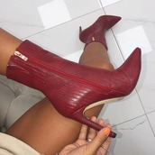 boot,red boot,shoes