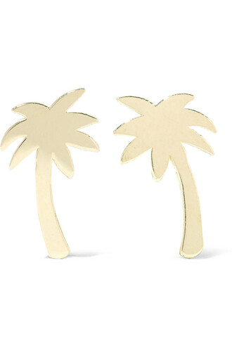 mini tree palm tree earrings gold earrings gold jewels