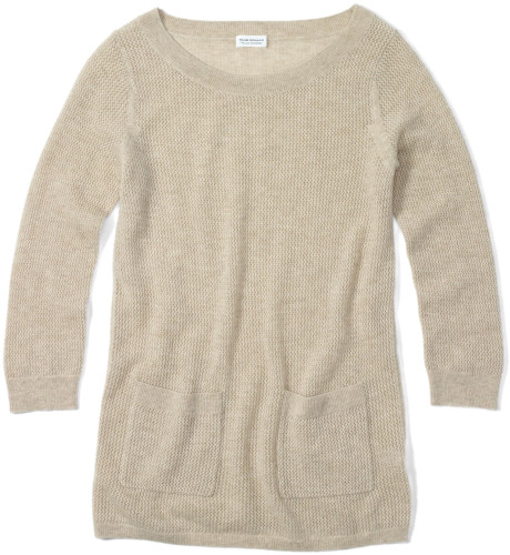 Club monaco rosa cashmere sweater in beige (light oatmeal heather)