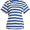 Gisa ruffle-trimmed striped t-shirt