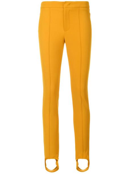 MONCLER GRENOBLE women spandex yellow orange pants