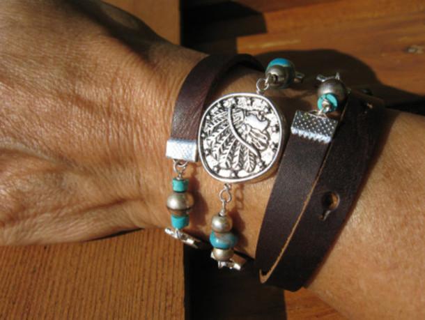 jewels leather wrap bracelets fleurdesignz