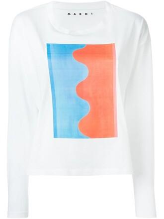 t-shirt shirt print white top