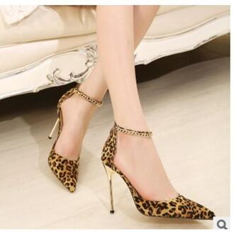 shoes leopard print high heels sexy shoes sexy