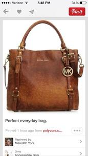 bag,michael kors,bedford ostrich tote,shoulder strap,brown purse,michael kors bag,fashion