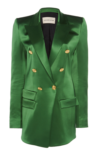 Double-Breasted Long Satin Blazer by Alexandre Vauthier | Moda Operandi