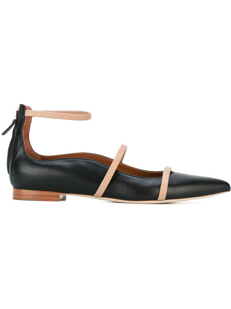 MALONE SOULIERS women leather black shoes