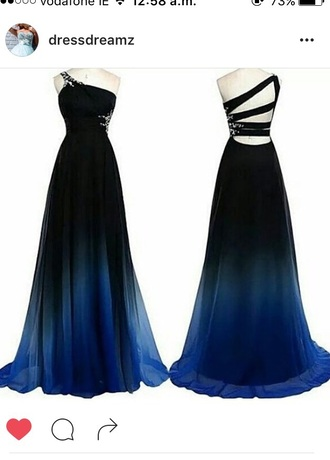dress ombre dress gown prom dress