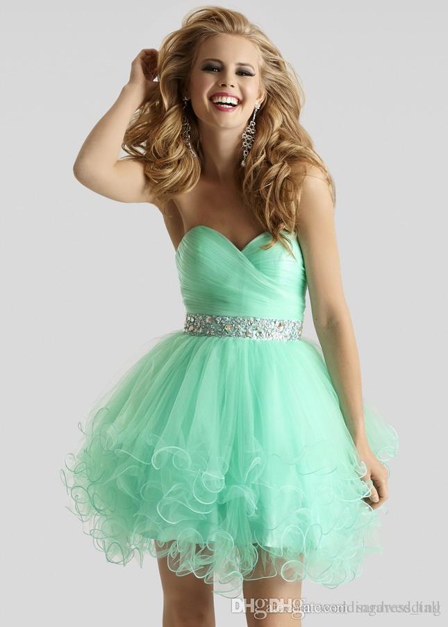 Green Short Formal Dresses