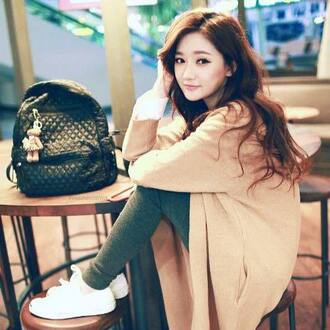 bag korean style korean fashion korean ulzzang backpack bags for back to school black backpack leather