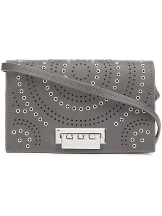 studded women bag crossbody bag grey