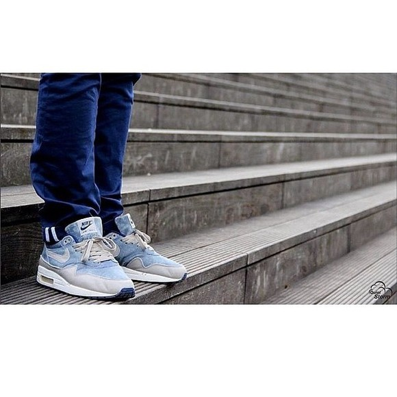 shoes air max nike nike sneakers one air max one denim sneakers