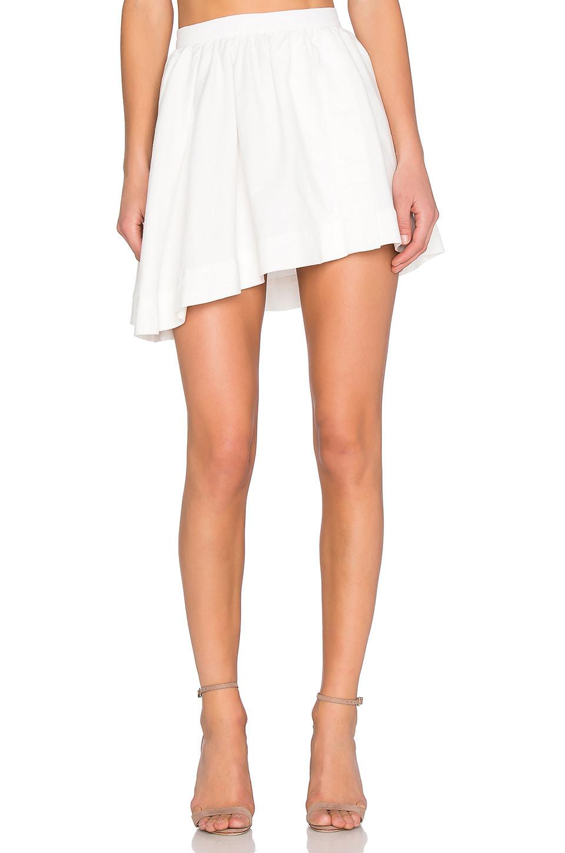 amen sheer pleated midi skirt in white