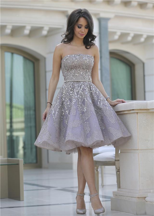 knee length glamorous prom dress_Prom Dresses_dressesss