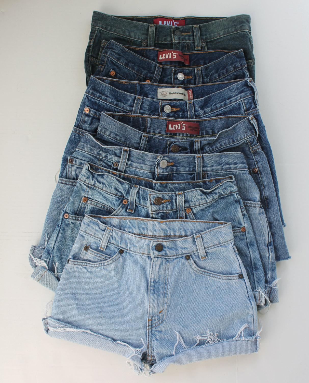 Levi high waist shorts sale high rise distressed cut offs festival shorts choose your size