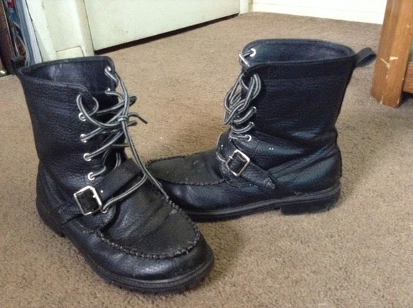 combat boots boots shoes tie up boots buckle boots