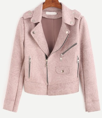 jacket girl girly girly wishlist pink pink jacket suede suede jacket leather motorcycle jacket