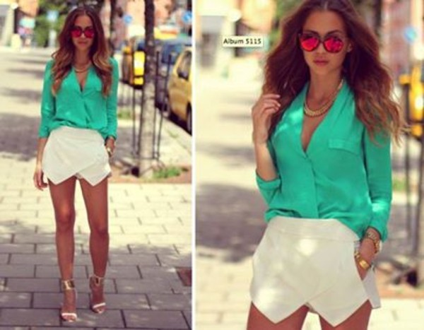 shirt clothes shoes sunglasses shorts