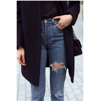 jeans high waisted jeans mom jeans ripped jeans tumblr outfit purse shirt style stylish trendy fashion inspo inspirational sweater on point clothing bag blogger