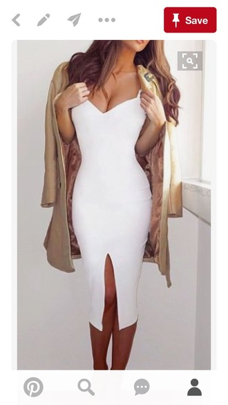 dress white white dress bodycon dress bodycon sexy dress party dress sexy party dresses summer dress summer outfits spring dress spring outfits cute dress girly dress girly cute classy dress pool party date outfit birthday dress romantic dress romantic summer dress slit dress white prom dress