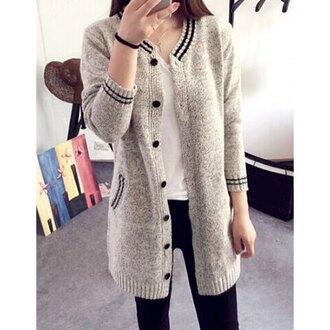 cardigan grey casual streetwear selfie college tumblr instagram rose wholesale
