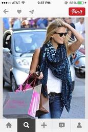 scarf,blue,leopard print,blue cheetah print