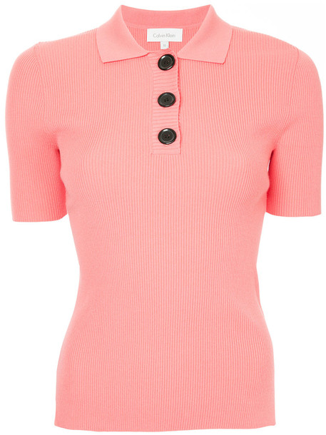 Ck Calvin Klein shirt polo shirt women purple pink top