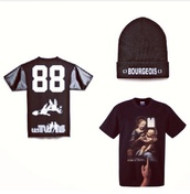 hat,bennie,black,t-shirt