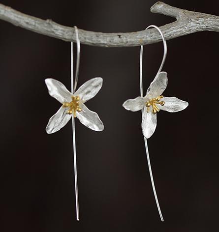 Handmade Sterling Silver Lilac Earrings - Wishbop.com