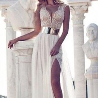 dress wots-hot-right-now maxi dress prom dress cap sleeves dresses chiffon