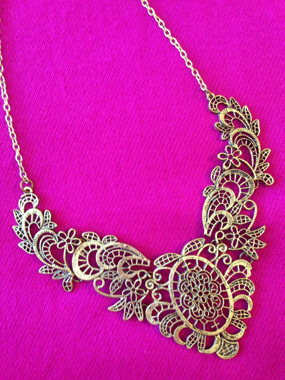Gunmetal lace necklace by mir