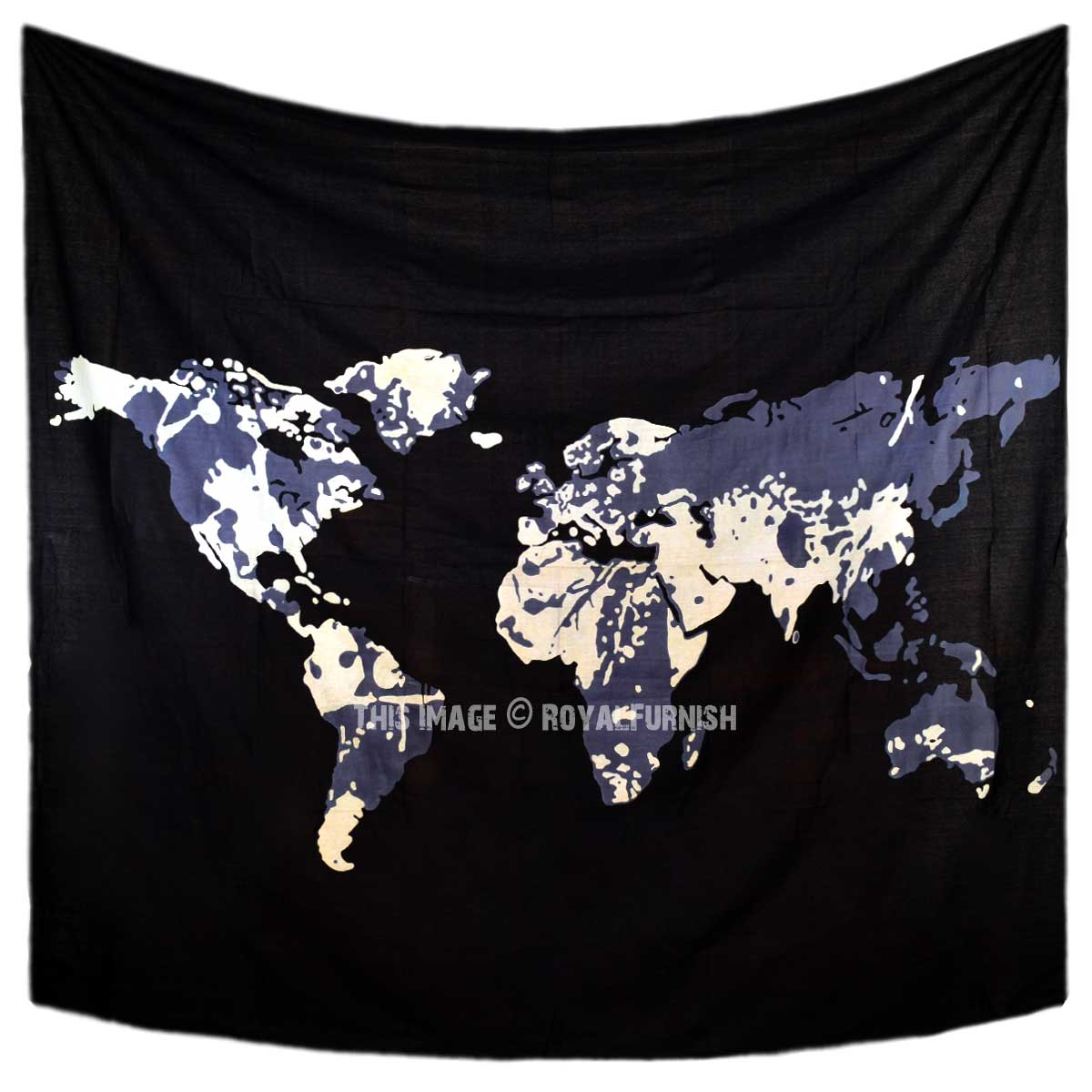 grey black multi world map wall tapestry atlas bedspread royalfurnishcom