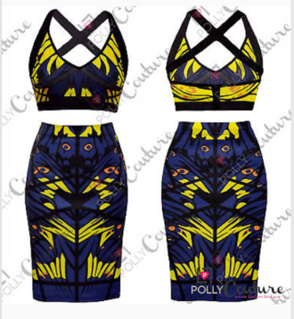tank top crop tops multicolor skirt jupe taille haute dress ensemble