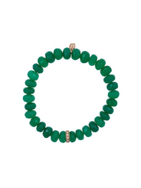 sydney evan beaded bracelet rose gold rose women beaded gold green jewels