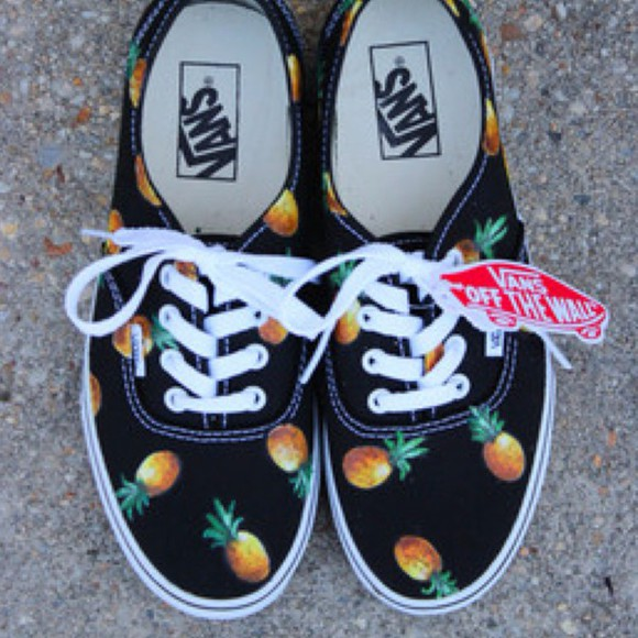 shoes vans pineapple print