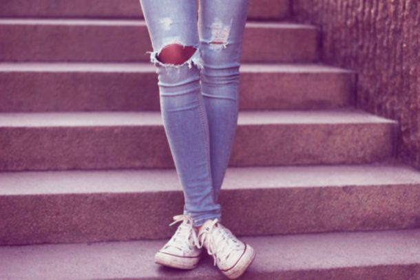 Jeans: girl, converse, fashion, clothes, cute, beautiful, summer ...