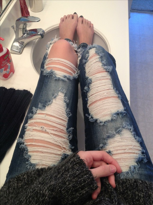 pants cute denim ripped jeans