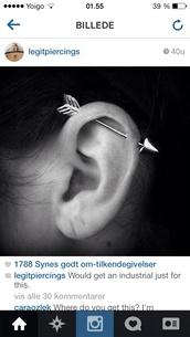 jewels,piercing,industrial,earrings,arrow earring