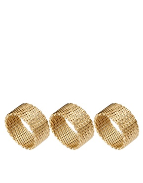 ASOS | ASOS Multipack Chain Mesh Rings at ASOS