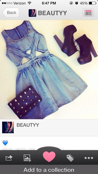 denim dress dress denim blue cut-out dress
